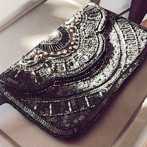 Handbags - Vintage beaded clutch/wristlet